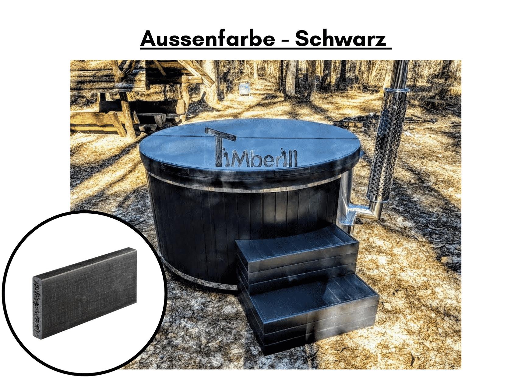Außenfarbe schwarz für Whirlpool im Freien mit Smart Pelletofen