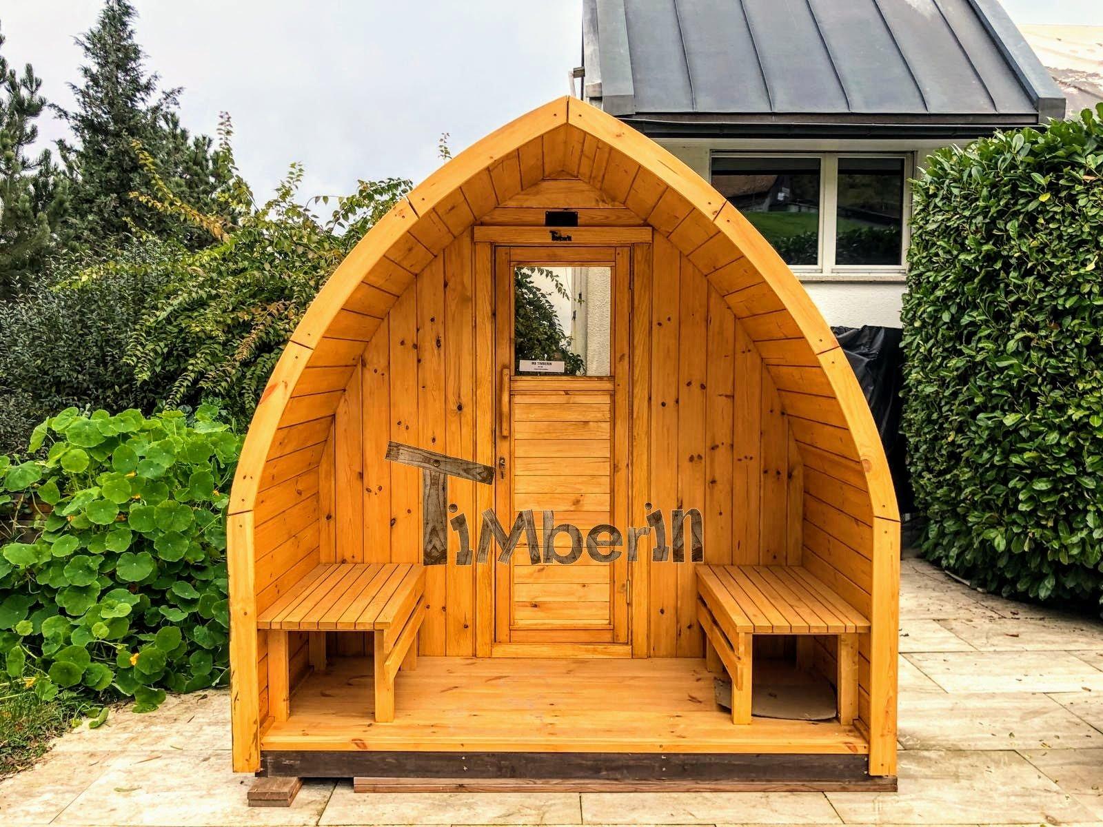 Außensauna Gartensauna Iglu Pod mit Holzofen Elektrisch 1 2