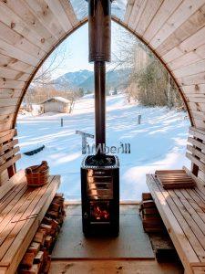 Außensauna Gartensauna Iglu Pod mit Holzofen Elektrisch 1