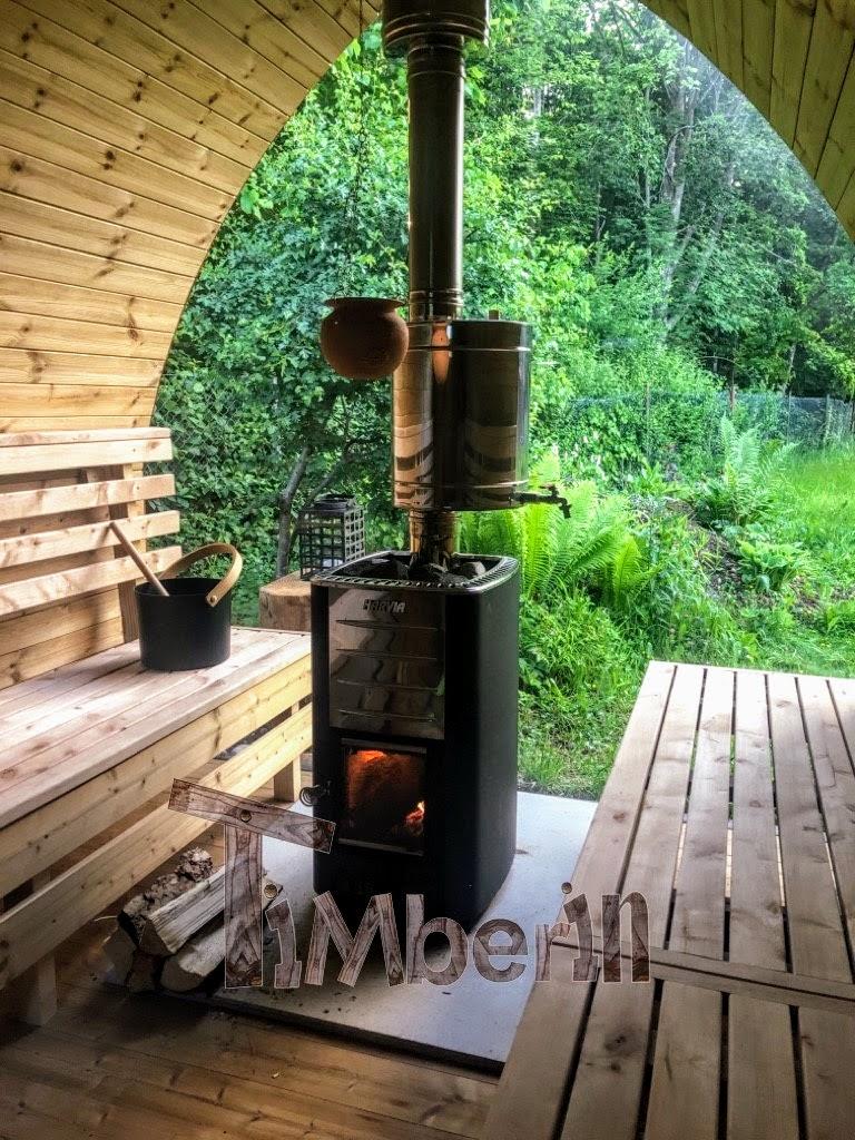 Außensauna Gartensauna Iglu Pod mit Holzofen Elektrisch 1 3