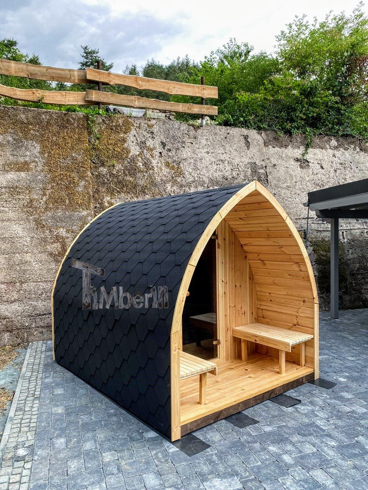 Außensauna Gartensauna Iglu Pod mit Holzofen Elektrisch 1 5