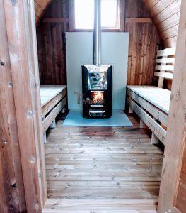 Außensauna Gartensauna Iglu Pod mit Holzofen Elektrisch 2 1