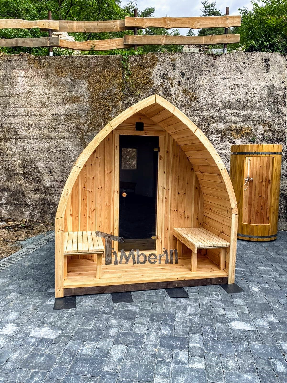 Außensauna Gartensauna Iglu Pod mit Holzofen Elektrisch 2 5