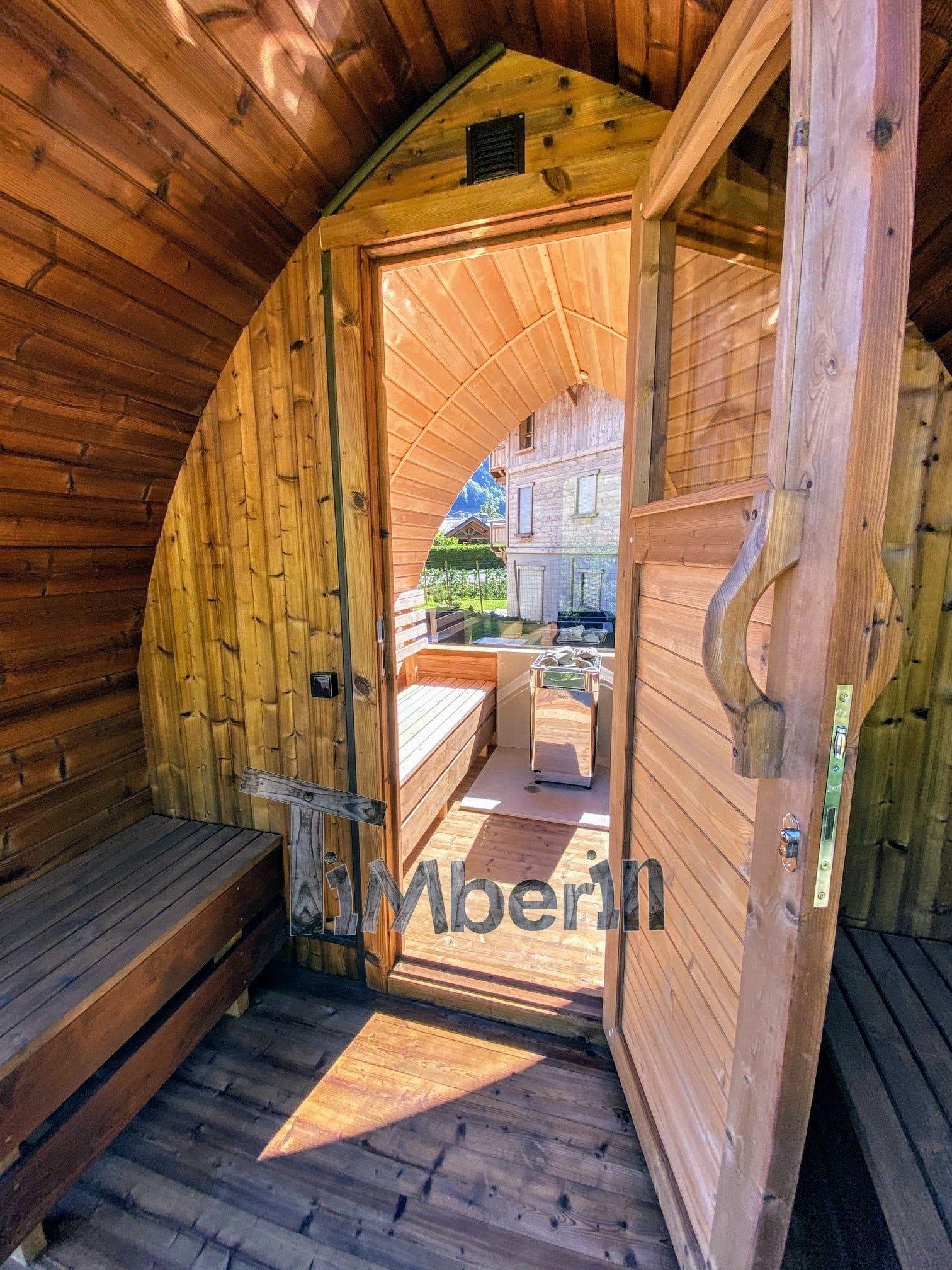 Außensauna Gartensauna Iglu Pod mit Holzofen Elektrisch 2