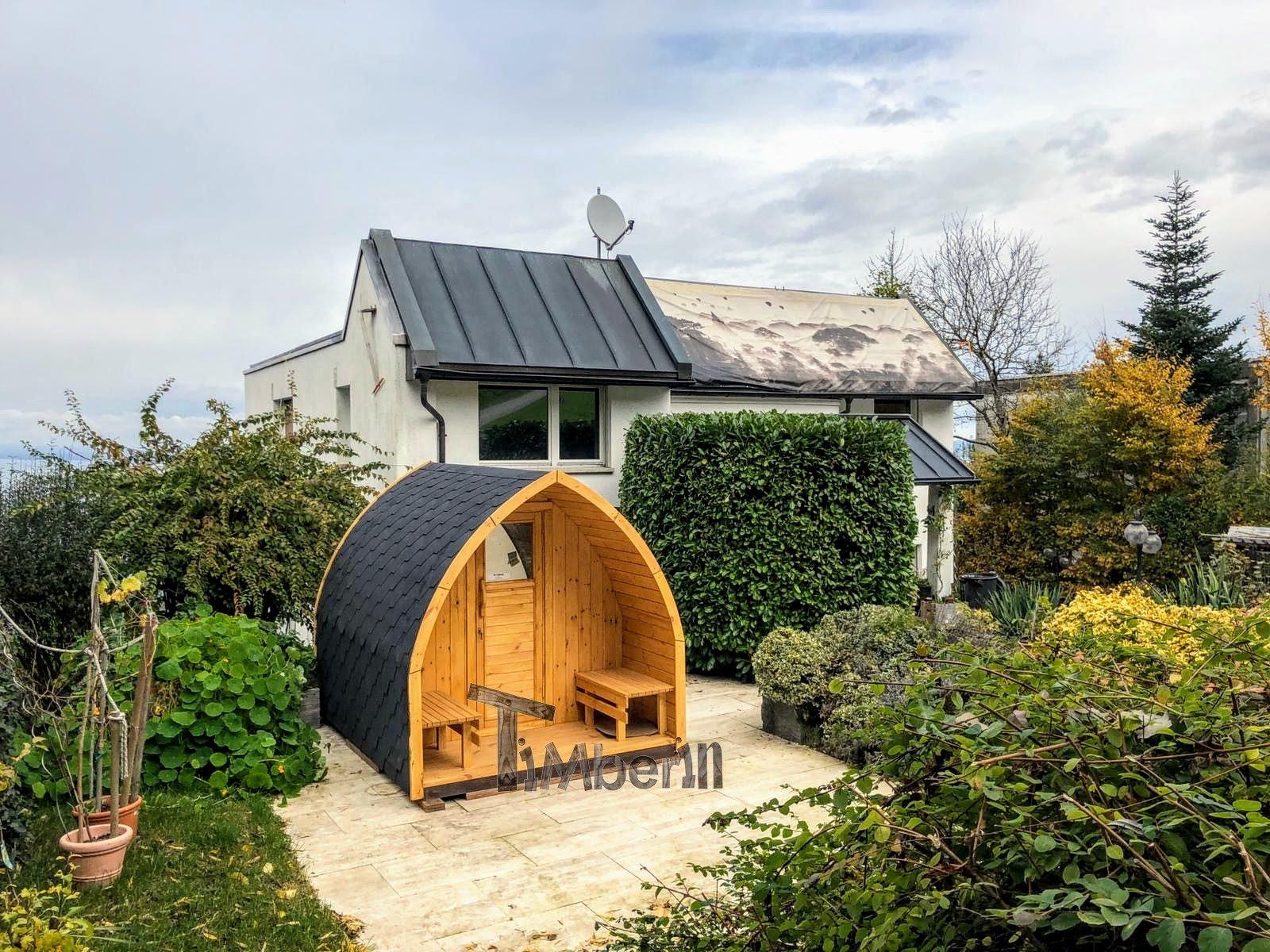 Außensauna Gartensauna Iglu Pod mit Holzofen Elektrisch 3 2