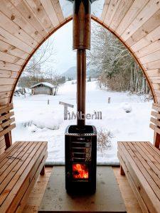 Außensauna Gartensauna Iglu Pod mit Holzofen Elektrisch 3