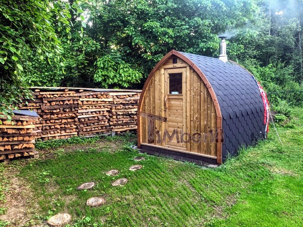 Außensauna Gartensauna Iglu Pod mit Holzofen Elektrisch 3 3