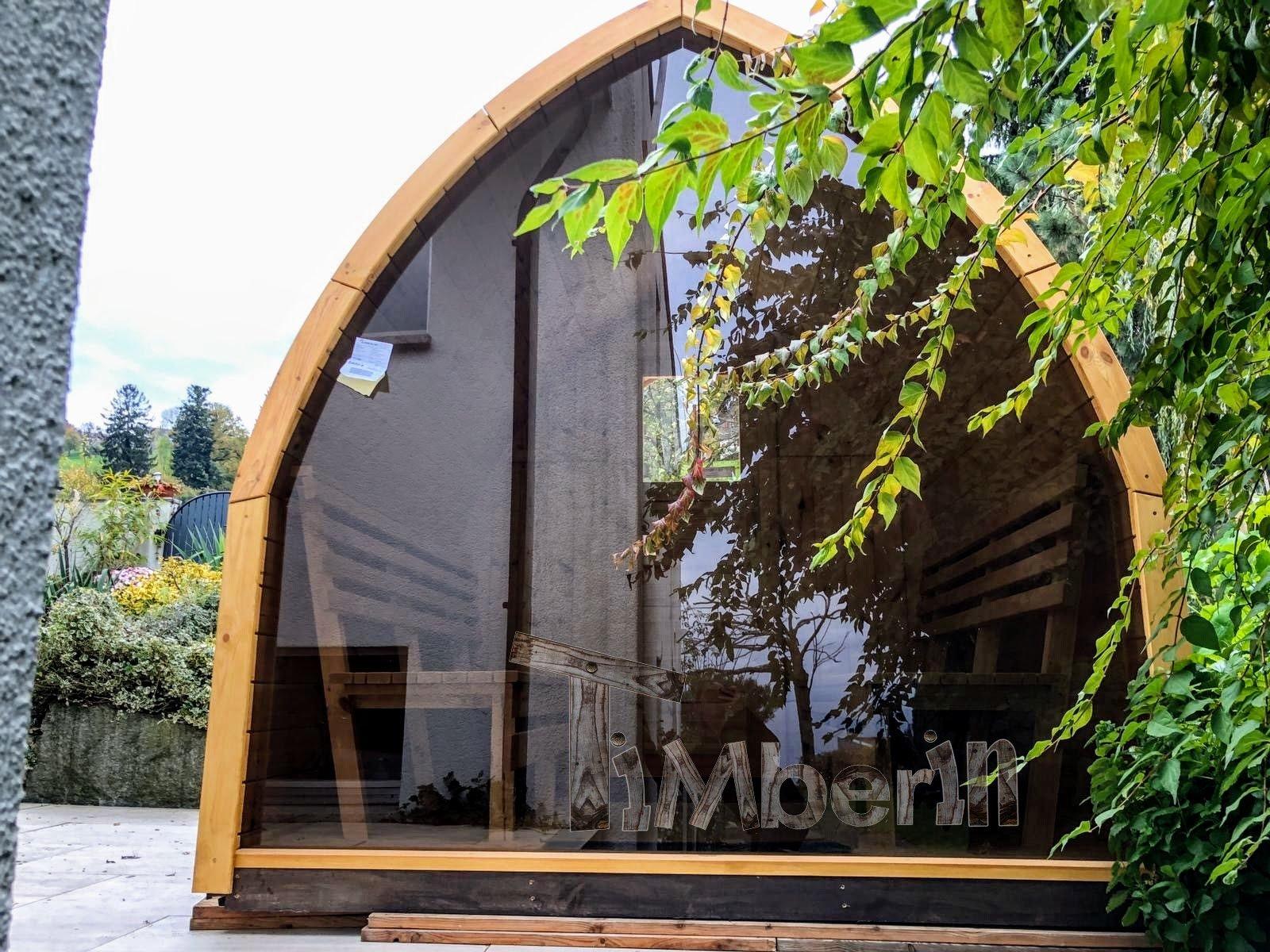 Außensauna Gartensauna Iglu Pod mit Holzofen Elektrisch 4 1