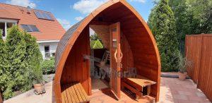 Außensauna für Garten Iglu Design 2