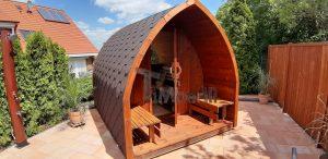 Außensauna für Garten Iglu Design 3