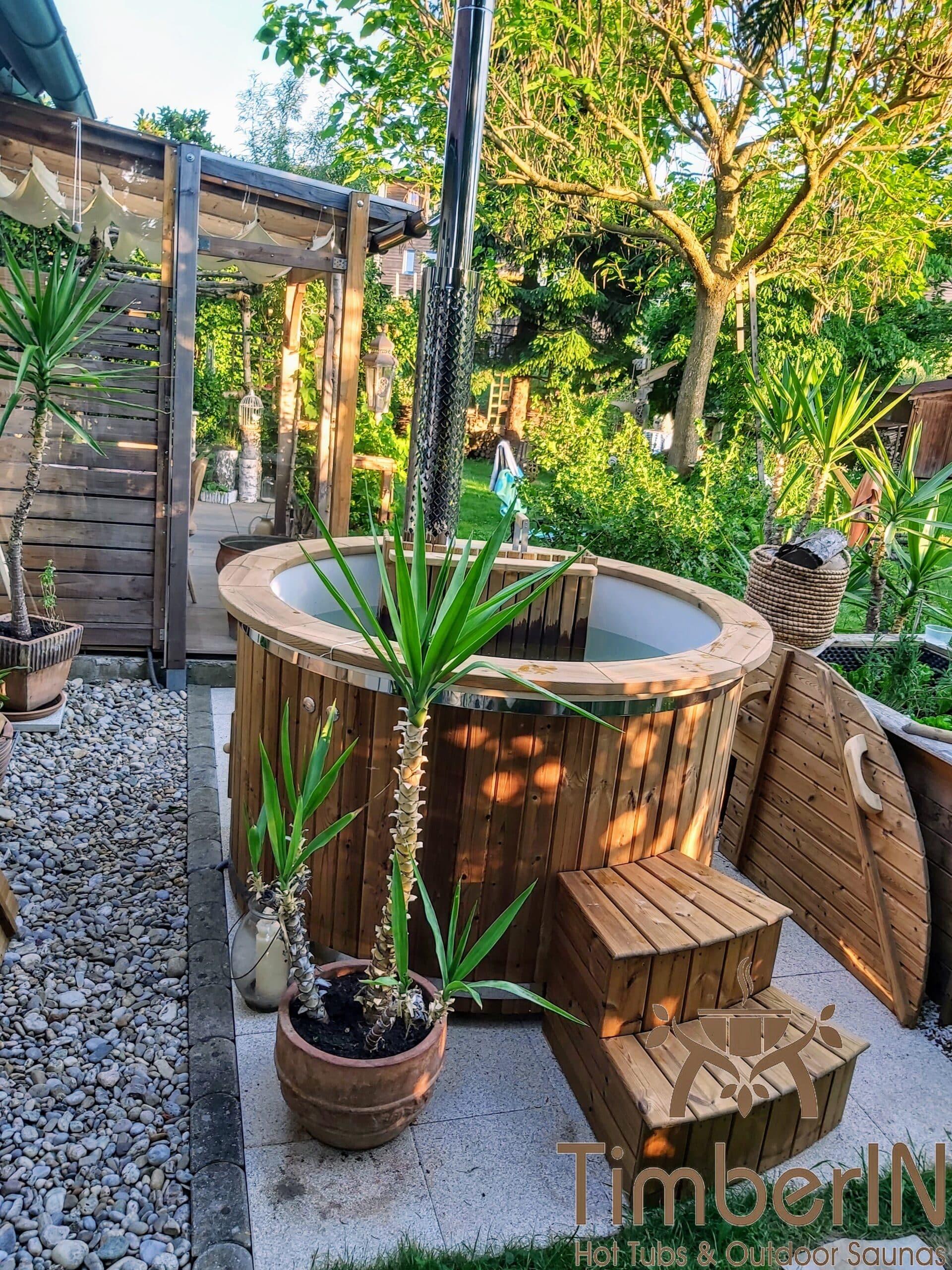 Badefass Badezuber Garten mit Innenofen GFK 1 1 scaled