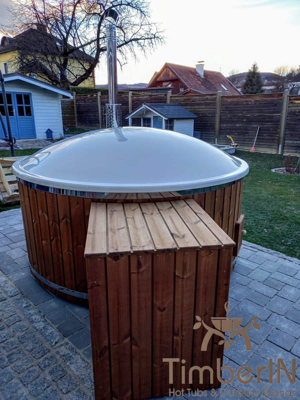 Badetonne Badebottich Hot Tube GFK mit Whirlpoolfunktion 2 1