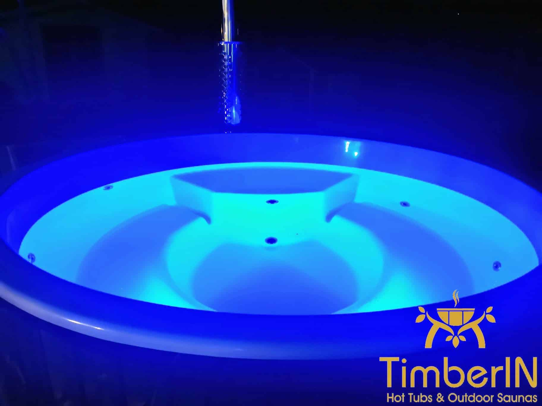 Badetonne Badebottich Hot Tube GFK mit Whirlpoolfunktion 4 1