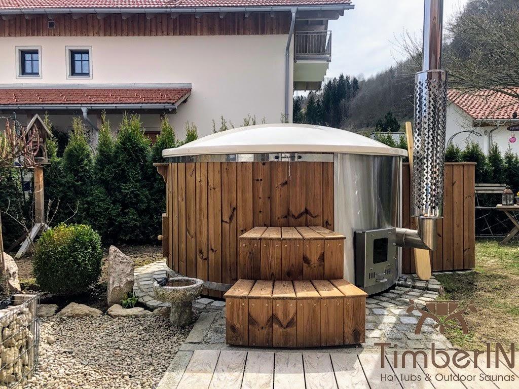 Badetonne Badebottich Hot Tube GFK mit Whirlpoolfunktion 5