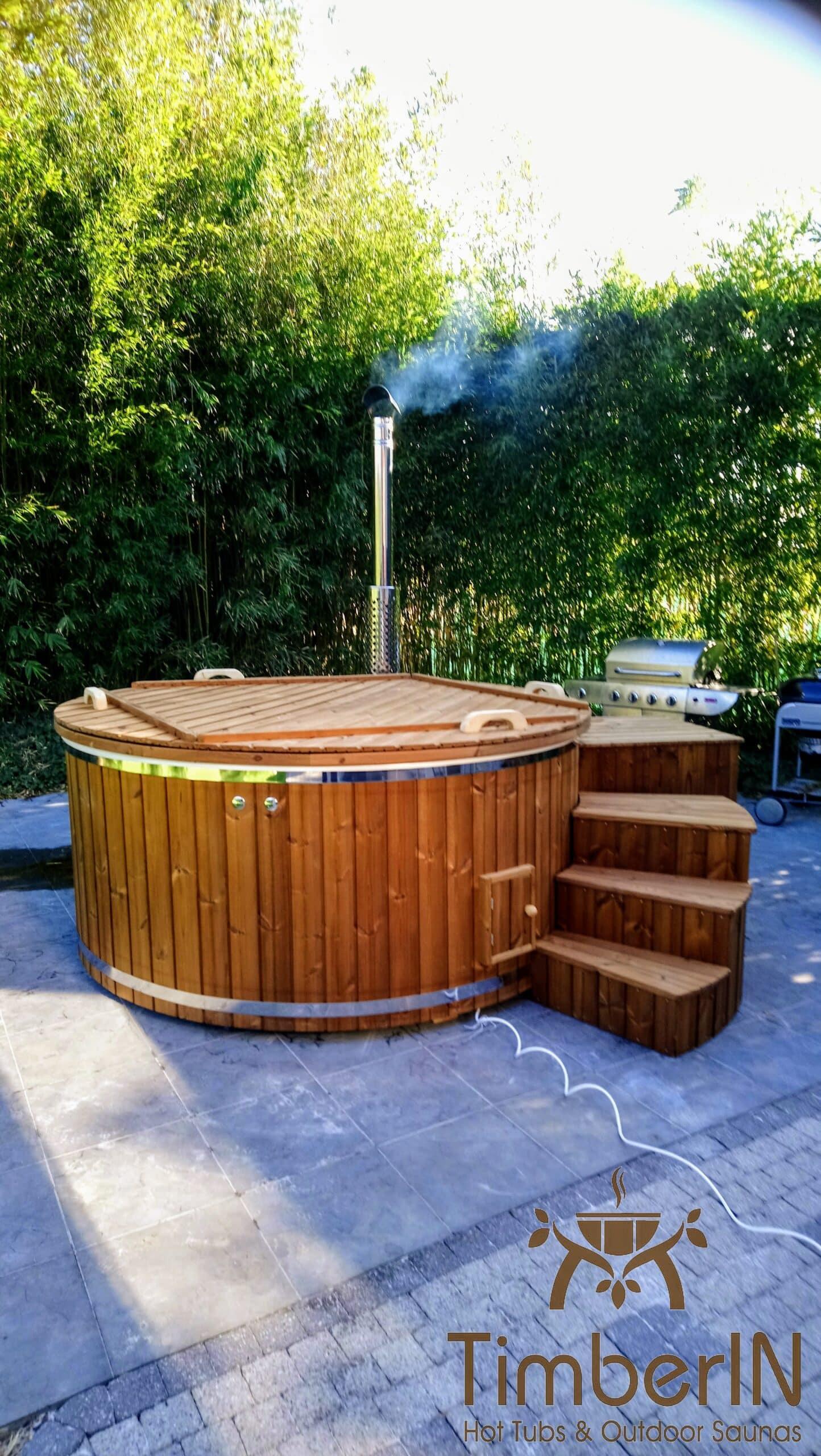 Badetonne Badebottich Hot Tube GFK mit Whirlpoolfunktion 6 scaled