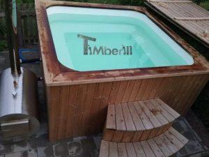Badetonne eckig Micro Pool mit Kunststoff 4