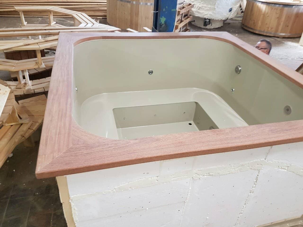 Badetonne ohne Holzverkleidung zum einbau