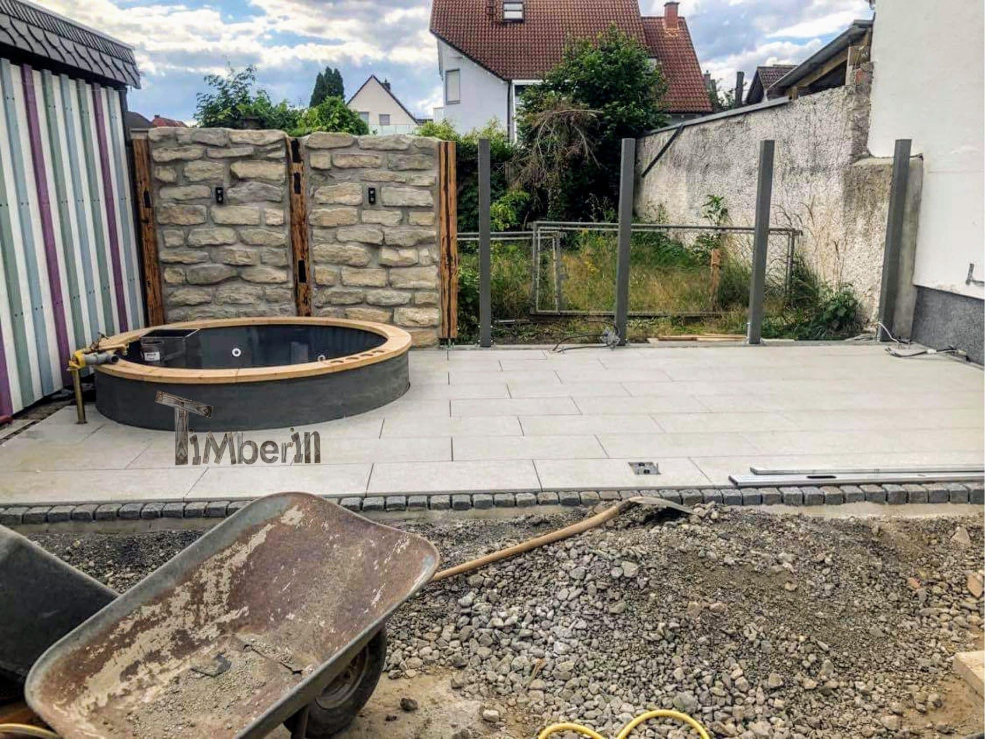Badezuber Badefass Jacuzzi Hot tube Einbaumodell Einsatz Eingraben Eingelassen 5