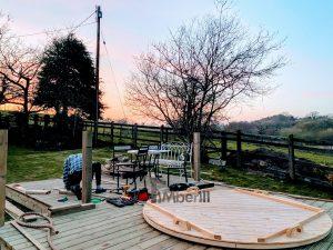 Badezuber Badetonne Terrasse Einbaumodell Einsatz