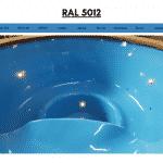 Blau RAL 5012 für Badetonne aus Holz