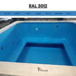 Blau RAL 5012 für quadratischen rechteckigen Badezuber