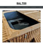 Dunkelgrau RAL 7011 für quadratischen rechteckigen Badezuber
