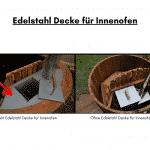 Edelstahl Decke für Innenofen für Terrasse Whirlpool