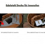 Edelstahl Decke für Innenofen für quadratischen rechteckigen Badezuber
