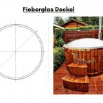 Fieberglas Deckel für Badetonne aus Holz