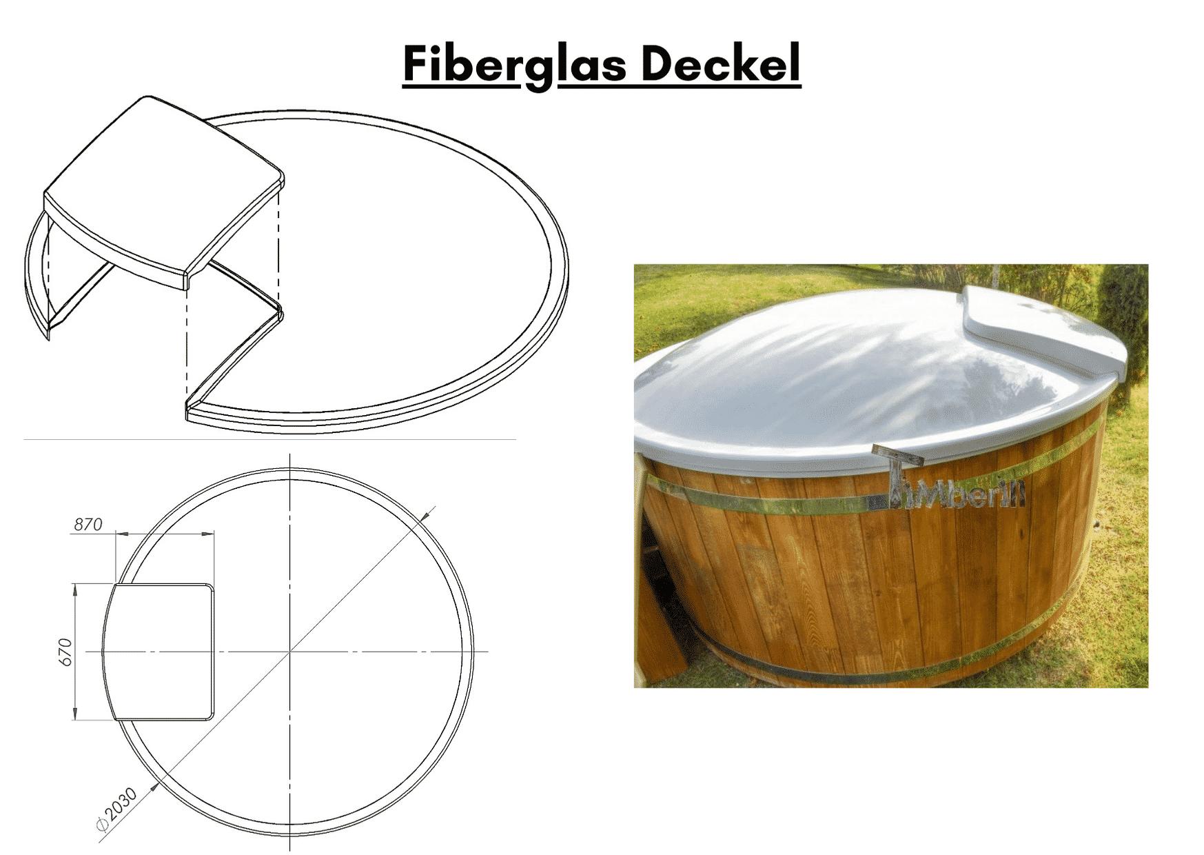 Fieberglas Deckel wellness basic