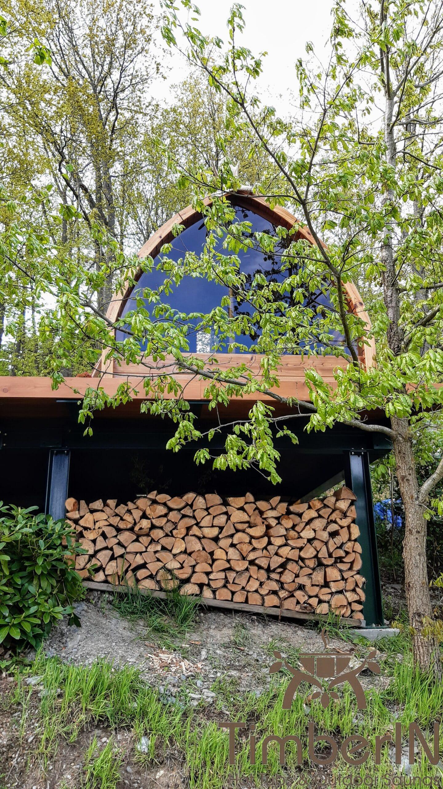 Finnische Aussensauna Gartensauna Pod 5 1 scaled