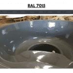 Grau RAL 7015 für Badetonne aus Holz