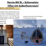 Harvia M3 SL Schornstein Ofen mit Außenfeuerraum
