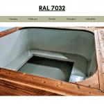 Hellgrau RAL 7032 für quadratischen rechteckigen Badezuber