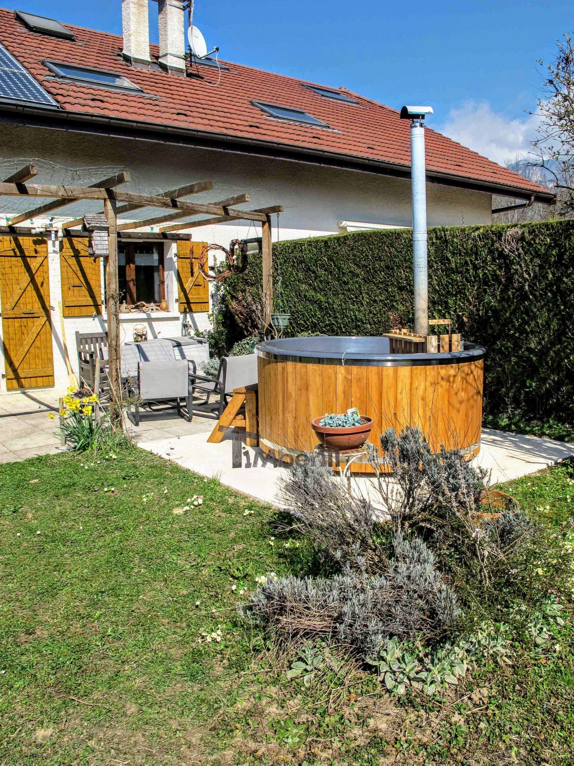 Holz Whirlpool für draußen Holzheizung 1 scaled