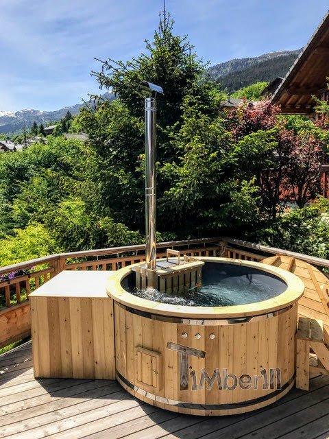 Holz Whirlpool für draußen Holzheizung 2