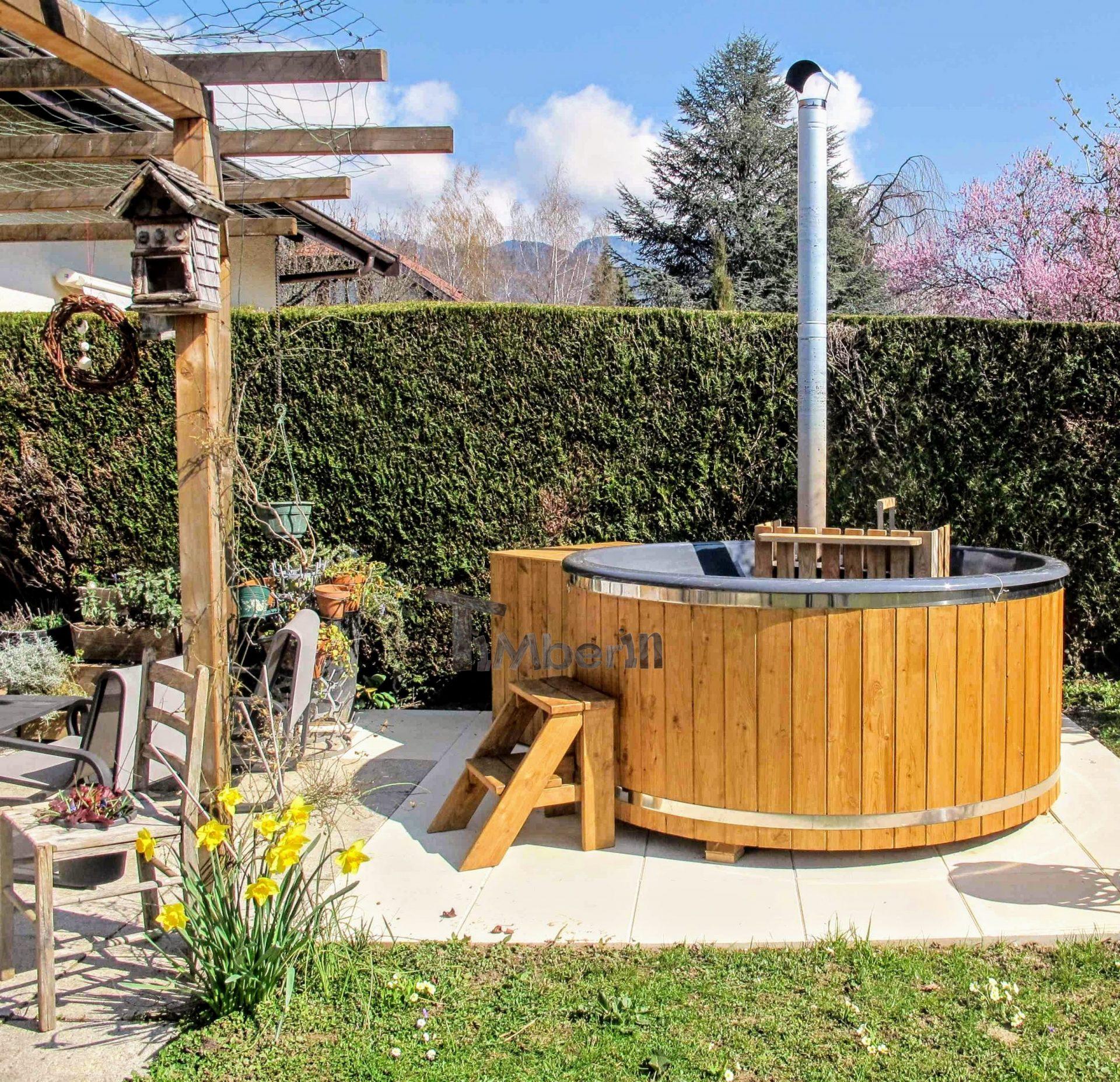 Holz Whirlpool für draußen Holzheizung 3 scaled