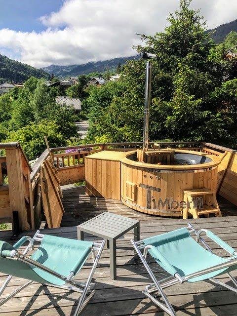 Holz Whirlpool für draußen Holzheizung 3