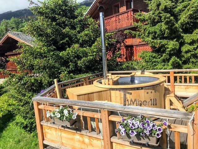 Holz Whirlpool für draußen Holzheizung 4