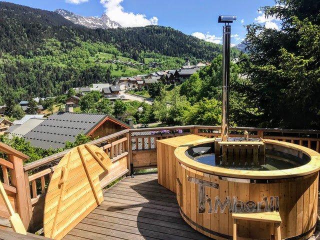 Holz Whirlpool für draußen Holzheizung 5