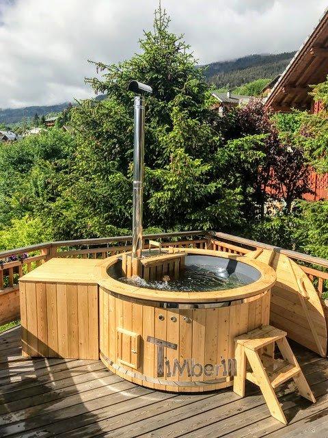 Holz Whirlpool für draußen Holzheizung 6