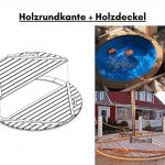 Holzrundkante anstatt Fiberglas Holzdeckel anstatt Fieberglas Deckel für Terrasse Whirlpool