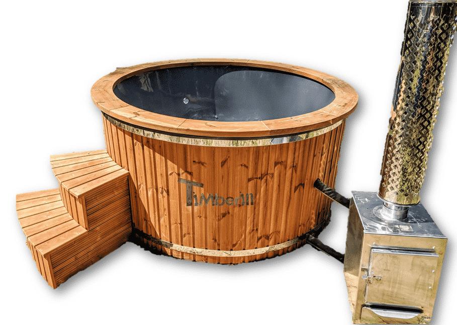 Badezuber Badetonne Badefass GFK mit Aussenofen Holzofen – Gasofen