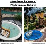 Metallzaun für Kamin für Terrasse Whirlpool