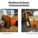 Metallzaun für Kamin für quadratischen rechteckigen Badezuber