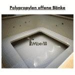 Polypropylen offene Bänke für quadratischen rechteckigen Badezuber