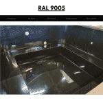 Schwarz RAL 9005 für quadratischen rechteckigen Badezuber