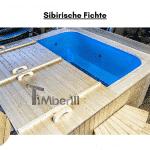 Sibirische Fichte für quadratischen rechteckigen Badezuber