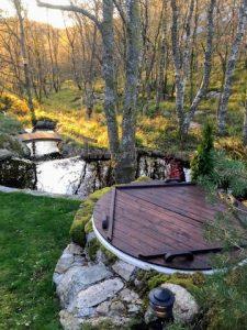 Terrace hot tub diy project 1