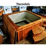 Thermoholz für quadratischen rechteckigen Badezuber